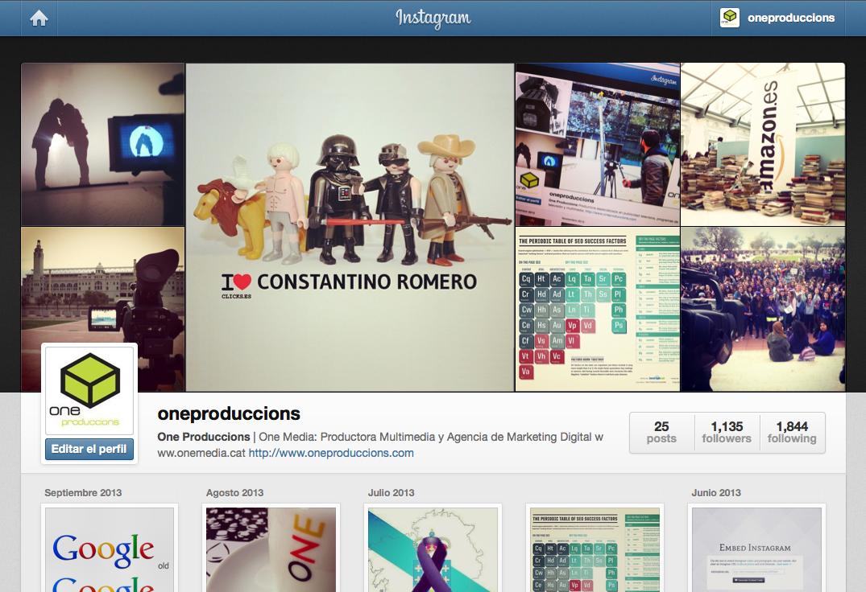 Intagram one produccions one produccions for Codigo nuevo instagram