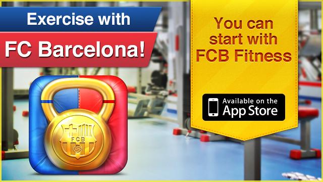 Disponible la FCB Fitness, la primera aplicación del Programa FCB Apps