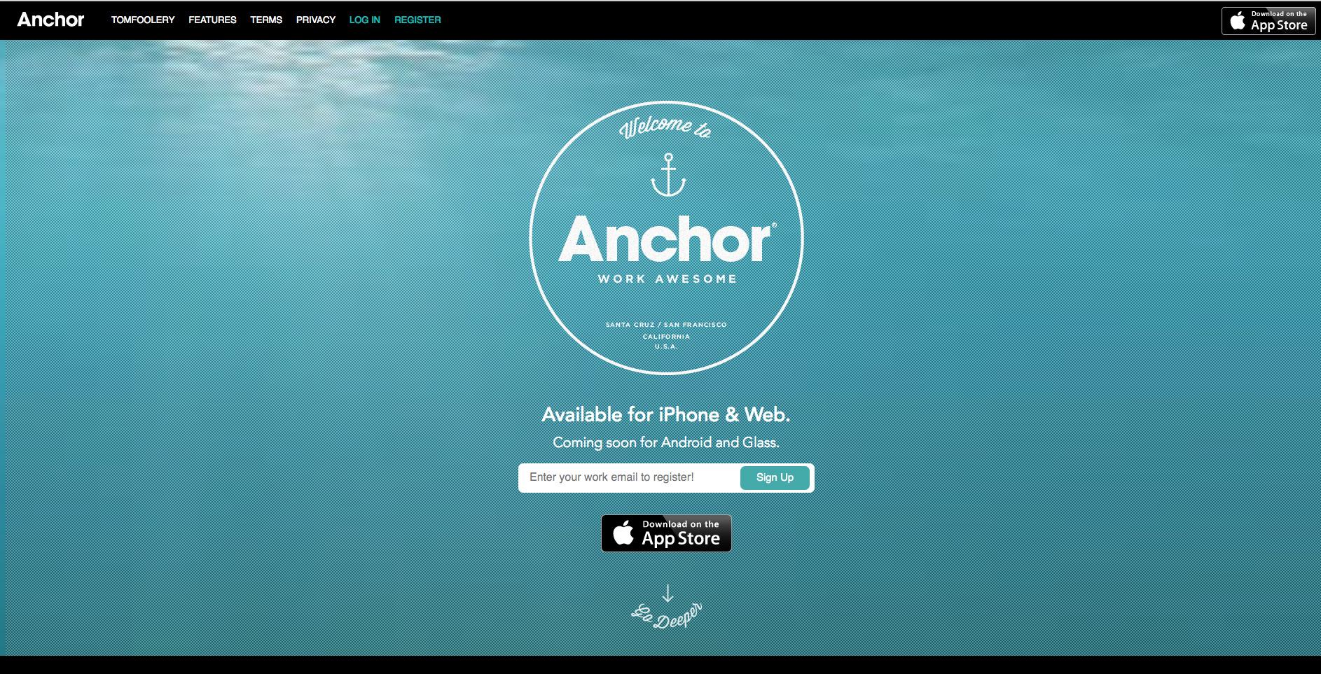 Anchor: la red social para compañeros de trabajo